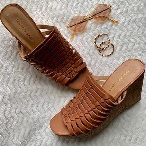 Franco Sarto Corkscrew Wedge Sandals